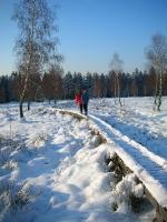 Foto 08 - Der verschneite Knüppeldamm auf dem Struffelt